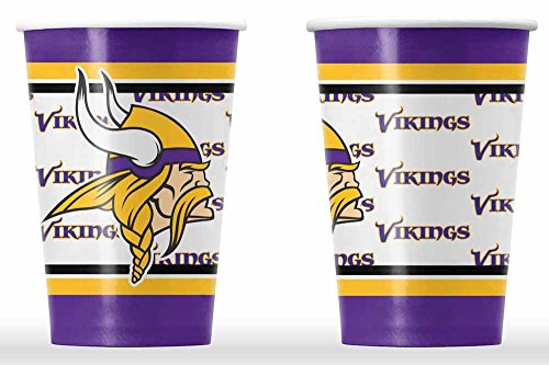 NFL Minnesota Vikings Disposable Paper Cups (20-Pack)