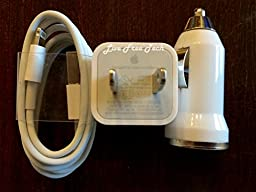 iPhone 5 5S 5C 6 6Plus Wall Charger, USB Cable, Car Charger