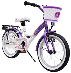 bike*star 40.6cm (16inches) Kids Children Girls Bike Bicycle Classic - Colour Lilac... by Bikestar