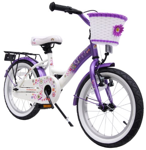 bike*star 40.6cm (16 Inch) Kids Children Girls Bike Bicycle Classic - Colour Lavender Lilac & White
