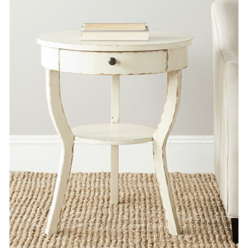 Safavieh American Home Collection Kendra Vintage Cream End Table 0