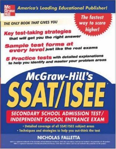 McGraw-Hill's SSAT and ISEE High School Entrance Examinations (McGraw-Hill's SSAT & ISEE High School Entrance Examin