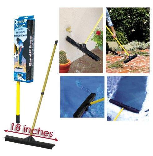 Dutch Rubber Broom (Large) w/ Telescoping Handle