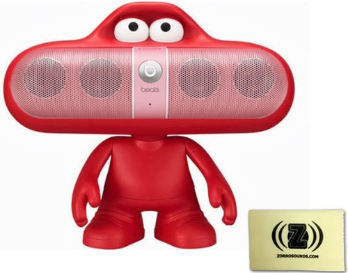 Beats By Dr. Dre Pill 2.0 Wireless Portable Speaker System Bundle (Nicki Pink) With Red Beats Pill Character Stand And Zorro Sounds Polishing Cloth