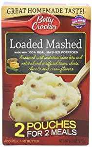 Betty Crocker Loaded Mashed Potatoes, 6.1-Ounce (Pack of 6)