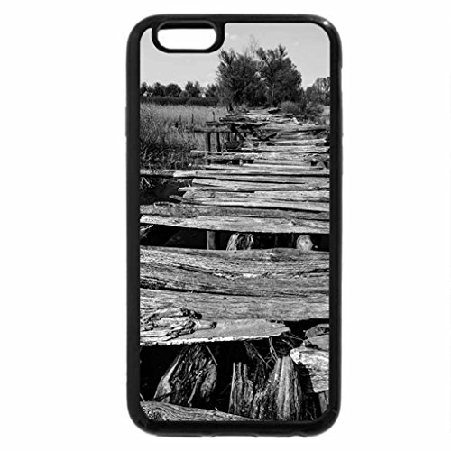 iPhone 6S Plus Case, iPhone 6 Plus Case (Black & White) - The Old Bridge to the Otherside