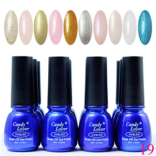 Candy Lover Uv Blue Bottle Nail Gel Polish 12Pcs/Lot Gel Nail Bueaty Products Top&Base Coat