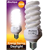 iBoutique 30W Edison Screw (E27) Daylight Energy Saving Light Bulb - Great For SAD Sufferers, Snooker, Pool, Hobbies, Crafts, Photography / Actual Equivalent Output: 150 Watts