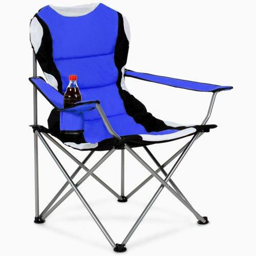 Tectake sedia pieghevole da campeggio imbottita con - Sedia pieghevole imbottita ...
