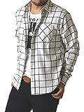 (リミテッドセレクト) LIMITED SELECT ゆうパケット発送 ネルシャツ メンズ 長袖 チェック シャツ ワークシャツ 大きいサイズ / R4L-0720 / M / B柄 10