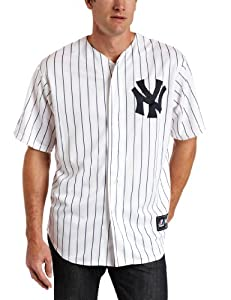 MLB New York Yankees Mark Teixeira Replica Home Jersey, White/Navy, Medium