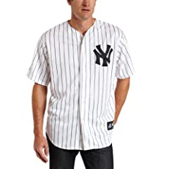 MLB New York Yankees Mark Teixeira Replica Home Jersey, White Navy by Majestic