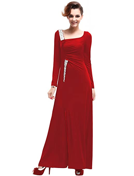 Ever Pretty Long Sleeve Sequins Fashion Evening Party Dresses Women 09736