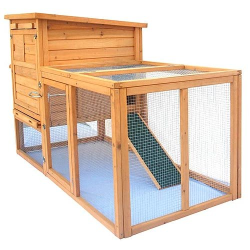 LARGE RABBIT HUTCH  &  RUN GUINEA PIG CAGE FERRET + INTEGRATED RUN  &  CLEANING TRAY  &  INNOVATIVE LOCKING MECHANISM (ARK M)