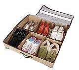 Periea - Unterbettkommode für Schuhaufbewahrung - fasst 3-12 Paare -