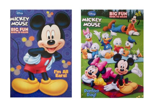 Disney Mickey Mouse Coloring Books Set of 2 - 1