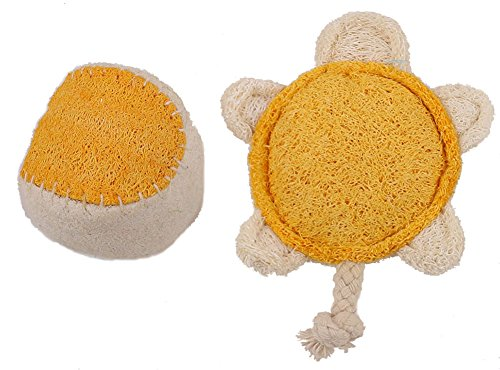[Ball Tortoise Lucky Pet Style Loofah Pet Supplies Natural Material Clean Teeth for Dog Cat Toy (Tortoise] (Diy Shower Loofah Costume)