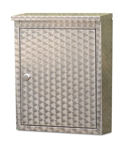 Architectural Mailboxes 2407SW Metropolis Swirl Finish Wall Mount Locking Mailbox