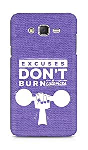 Amez Excuses don't burn Calories Back Cover For Samsung Galaxy J7