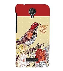 PRINTVISA Bird Case Cover for Micromax Canvas Spark Q380