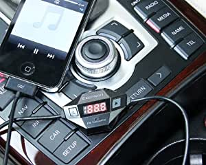 Excelvan F27 Fm Wireless Radio Adapter Transmitter with Automobile Car Charger for All Iphone Ipod, except for iphone 5S 5