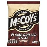 The Real McCoy's Ridge Cut Flame Grilled Steak Crisps 50g Case of 30