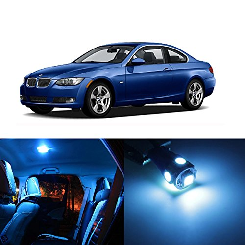Partsam 20PCS Ice Blue Interior Lights LED Package Kit for 2006-2011 BMW E90 E91 E92 E93 (Bmw Led Interior Lights compare prices)