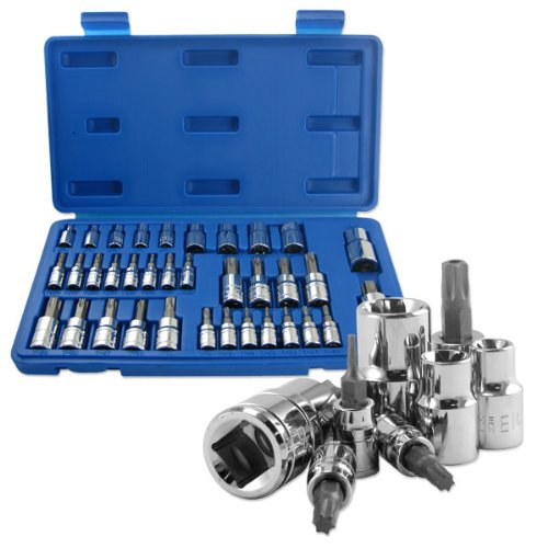 Neiko 35-Piece External Female Socket and Torx Bits Socket Set