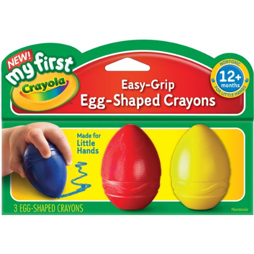 Crayola; My First Crayola; Easy-Grip Egg-Shaped Crayons; Art Tools; 12 Packs of 3 Crayons Each; Designed for Toddlers