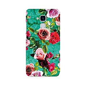 Motivatebox- Flower Print Premium Printed Case For Huawei Honor 5c -Matte Polycarbonate 3D Hard case Mobile Cell Phone Protective BACK CASE COVER. Hard Shockproof Scratch-