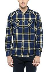 SF Jeans by Pantaloons Men Shirt 205000005563340_YELLOW_XX-Large