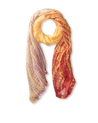 Hale Bob Women's Tie Dye Scarf, Coral
