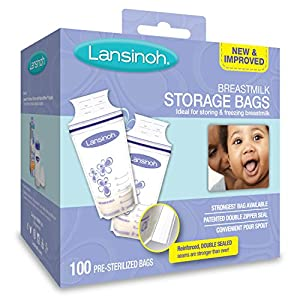 Lansinoh Breastmilk Storage Bags, 100 Count, BPA Free and BPS Free (Packaging May Vary)
