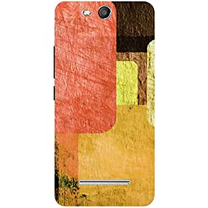 Casotec Vintage Colourfull Pattern Design Hard Back Case Cover for Micromax Canvas Juice 3 Q392