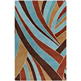 "Surya Forum FM-7002 Contemporary Hand Tufted 100% Wool Russet 7'6"" x 9'6"" Abstract Area Rug"