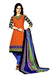 New Summer Collection Women's Cotton Unstitched Dress material (FE0004_Multi-coloured)