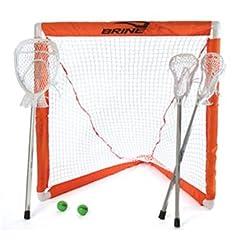 Buy Brine Mini Lacrosse Goal Set with Sticks by Brine