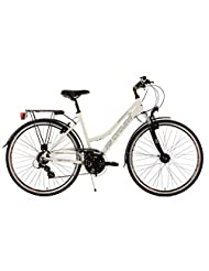 Ladies' Trekking Bike Norfolk White 24 Gear 48 cm KS Cycling