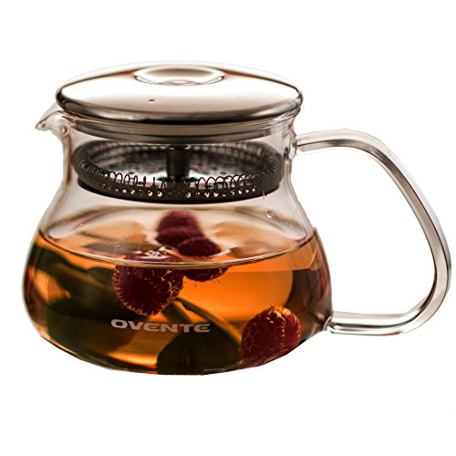 Ovente Fgb27T Teapot With Warmer 27Oz