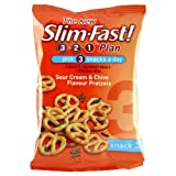 Slim Fast Snack Bag Sour Cream and Chive Pretzels 23g - Pack of 12