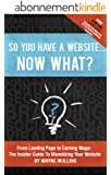 So You Have a Website Now What? (English Edition)
