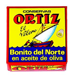 Ortiz White Tuna in Olive Oil Tin, 92-Grams (Pack of 5)