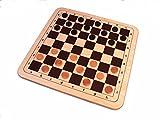 Mühle & Dame als Holzbrettspiel im XXL Format von 48 x 48 cm