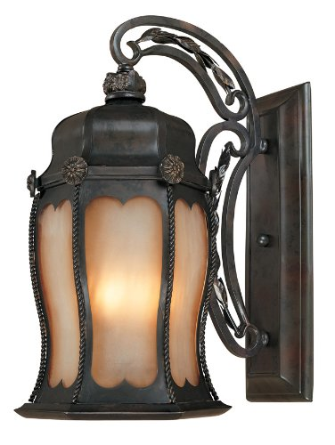 World Imports Lighting 1491-06 Old World Brass 2-Light Outdoor Fixture with Open Ironwork, Flemish