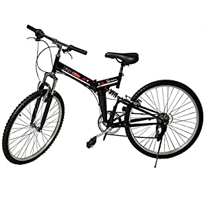 "Generic 26"" Folding 6 Speed Mountain Bike Bicycle Shimano School Sport Black from Generic"