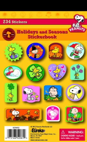 Eureka Peanuts Seasons and Holidays Stickers