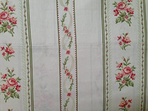 Cute Laura Ashley Queen Sheet Set TC Emmeline Pink Rose with Green Stripe