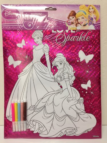 Disney Princess Foil Colloring Sheet with Markers - 1