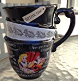 Disney Park Alice in Wonderland Triple Cup Design Ceramic Mug NEW