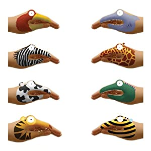 Temporary Tattoos for Talking Hands: Animal Hands